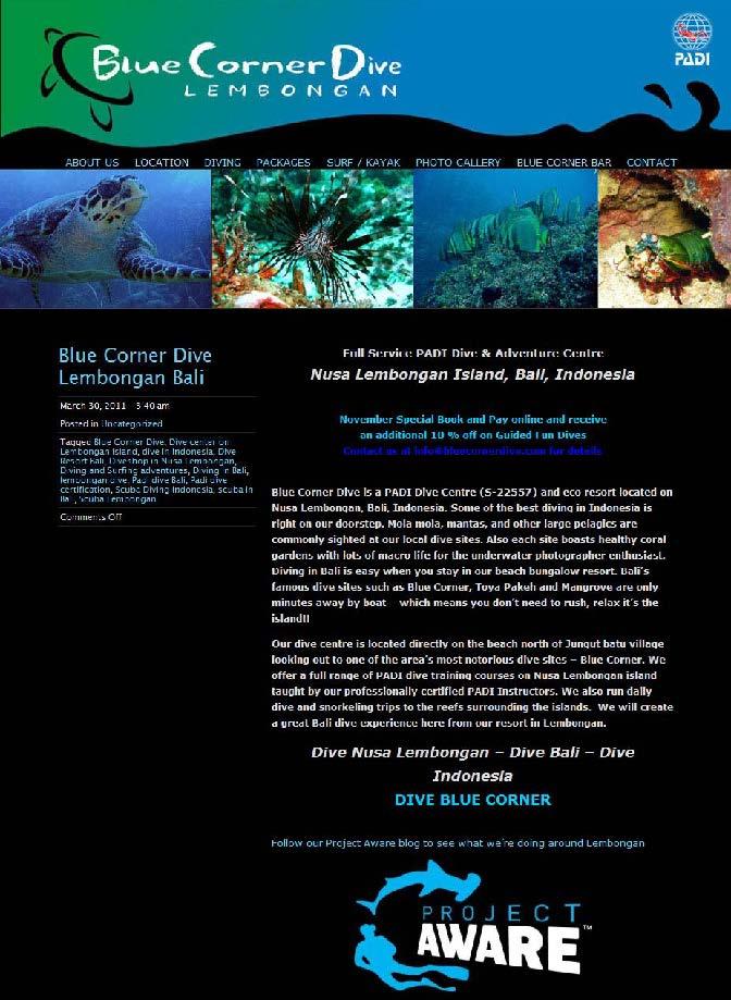 BlueCornerDive.com