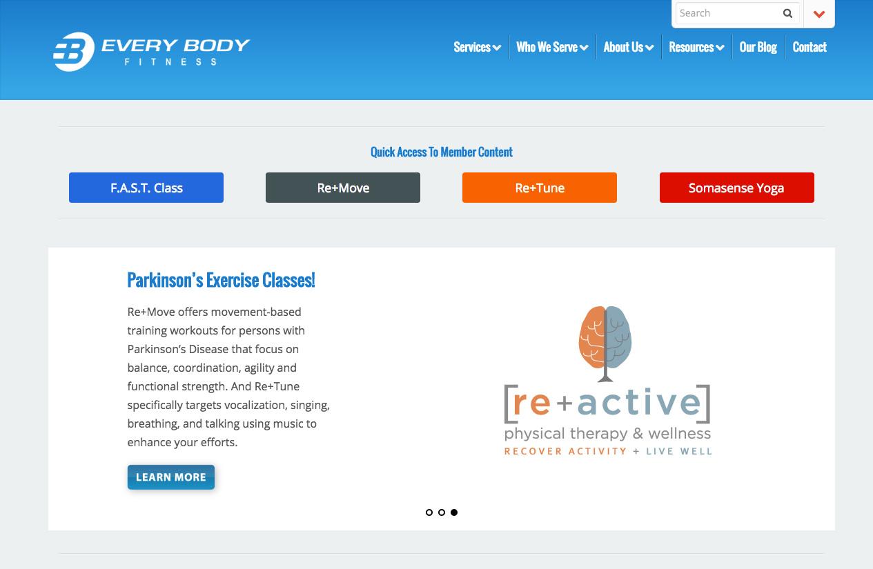 SCITotalFitness.com Re-Design